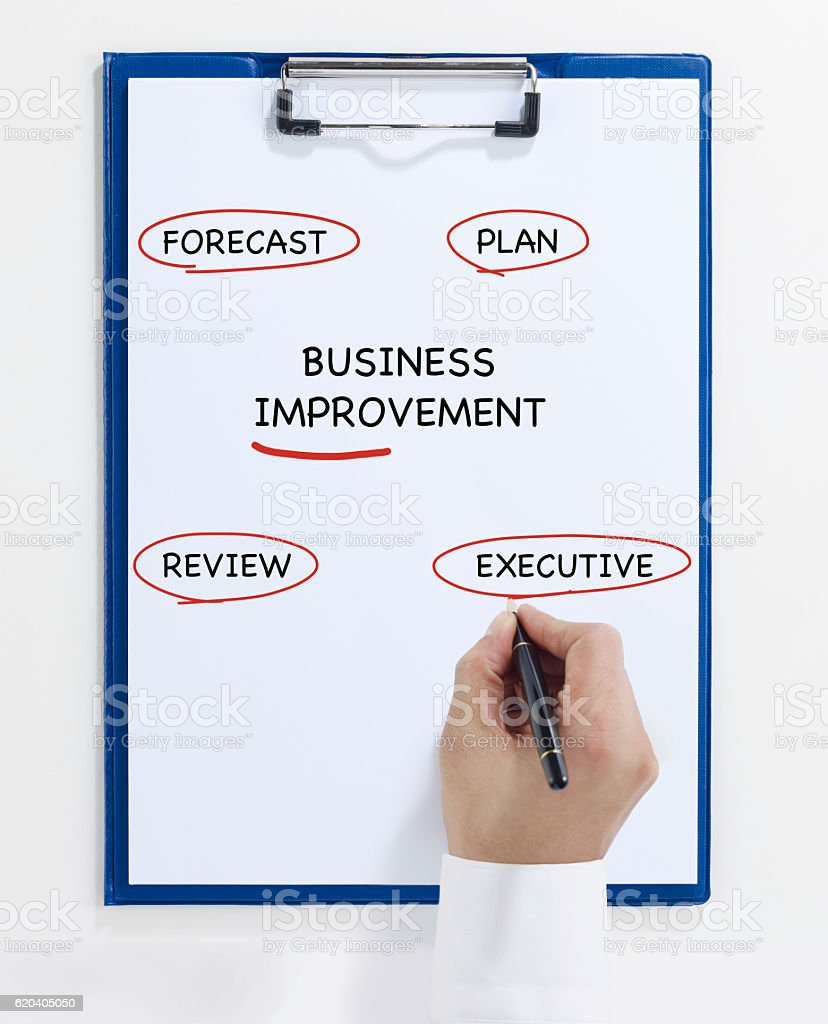 business impovement plan stock photo