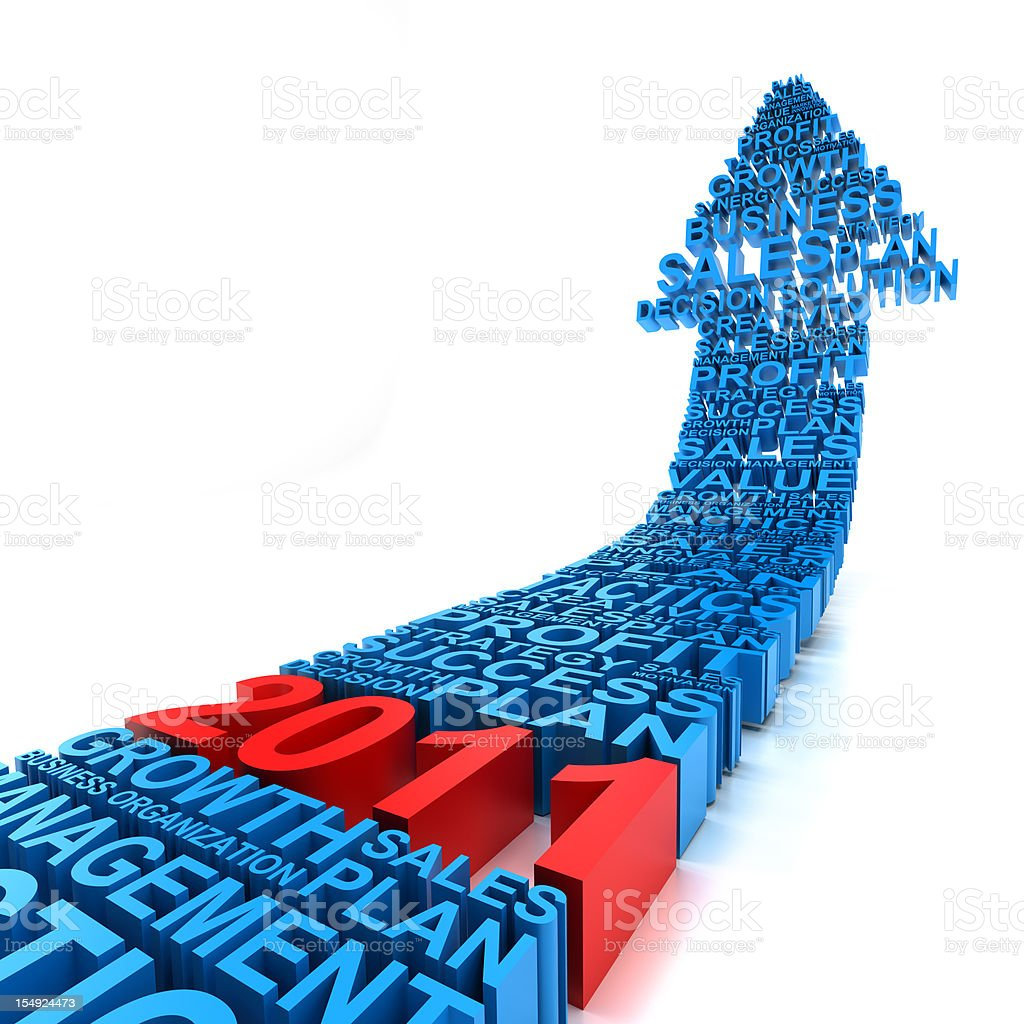 Business improvement in year 2011 royalty-free stock photo
