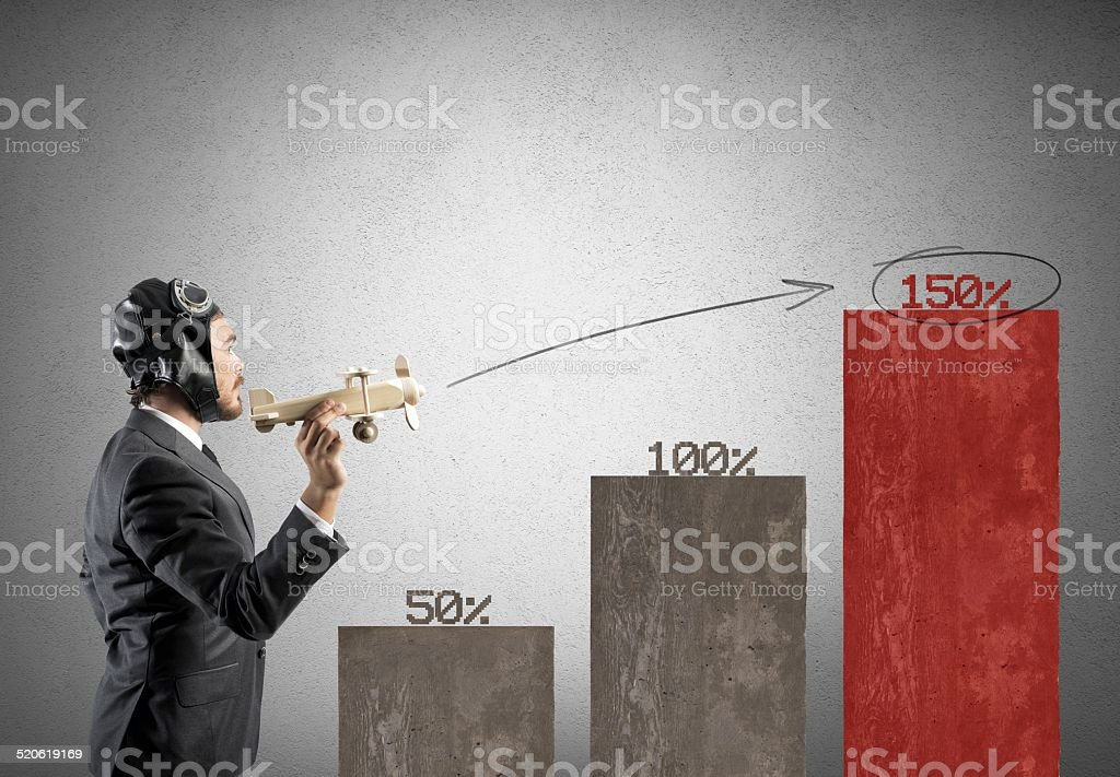 Business in action stock photo