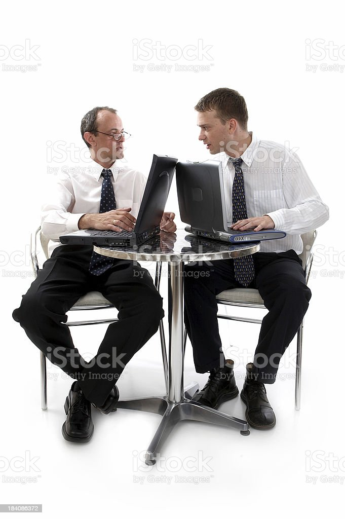 Business in café royalty-free stock photo