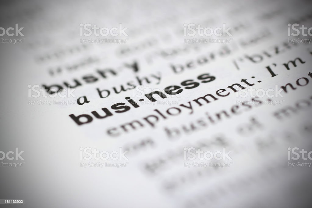 Business in dictionary royalty-free stock photo