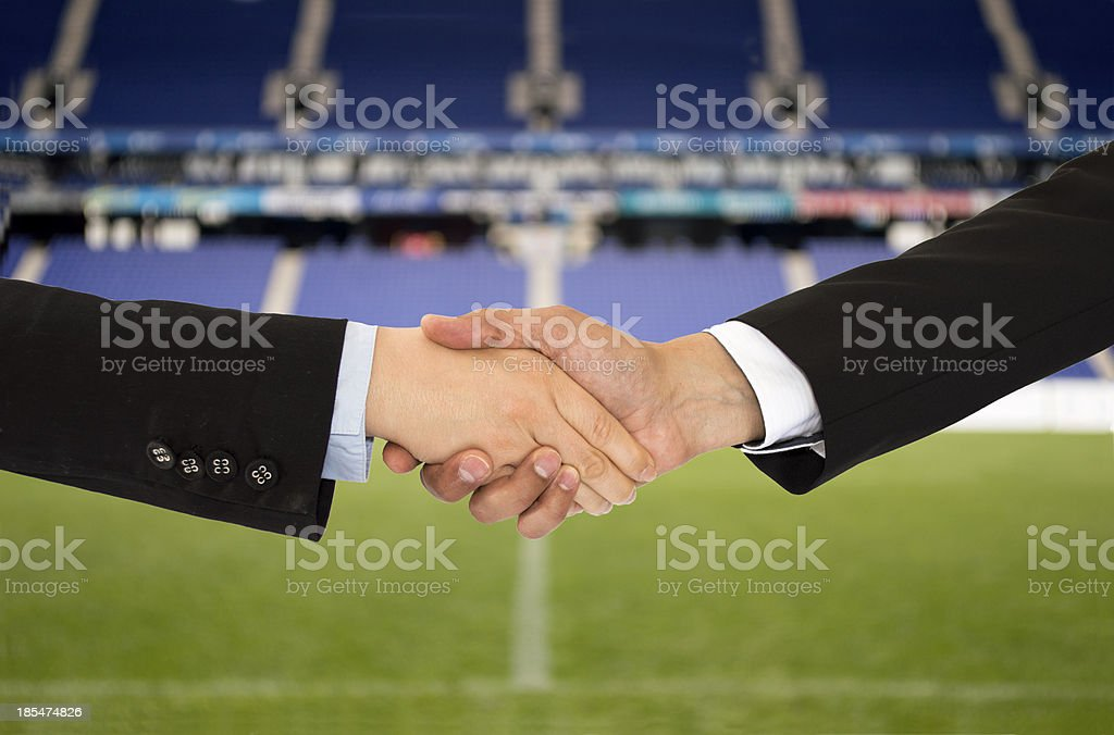 business in the sport of soccer royalty-free stock photo