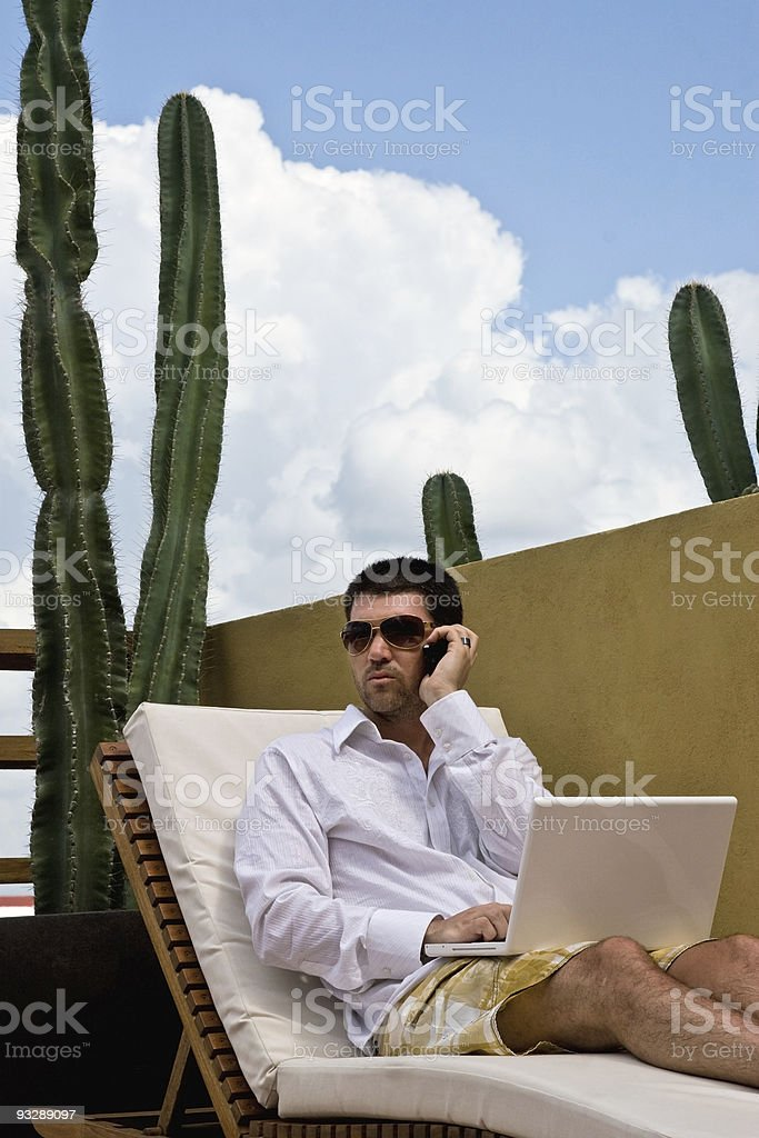 Business In The Sun royalty-free stock photo