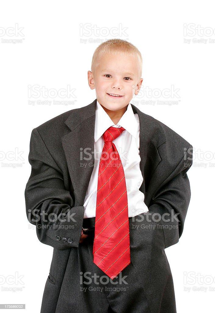 Business infant prodigy royalty-free stock photo