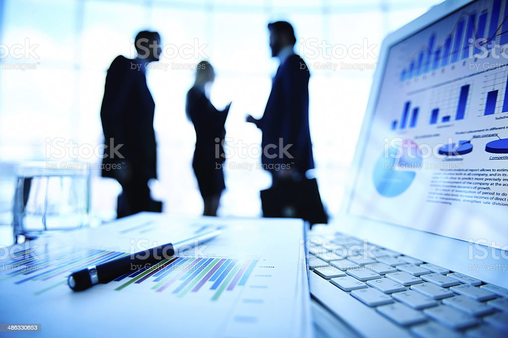 Business information stock photo