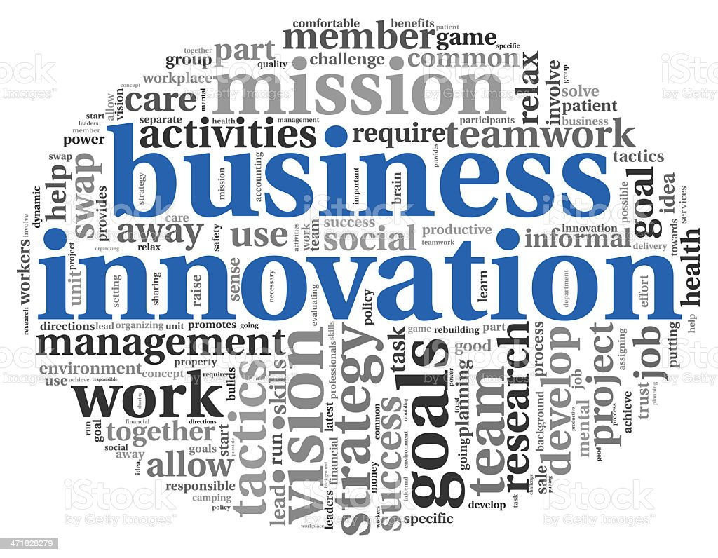 Business innovation concept in word tag cloud royalty-free stock photo
