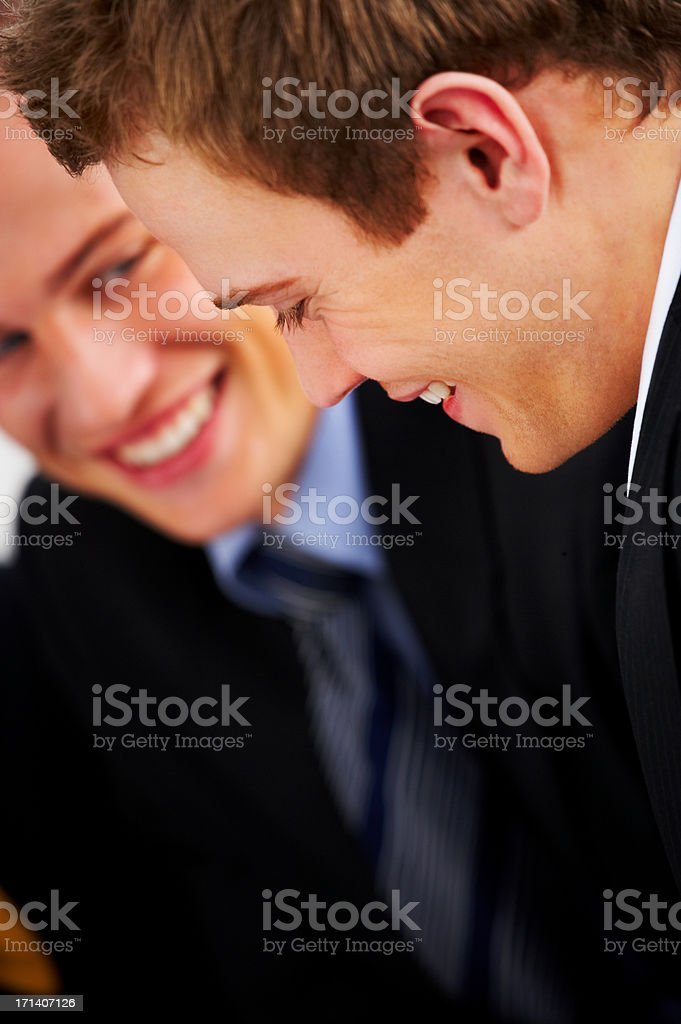 Business interaction close-up stock photo