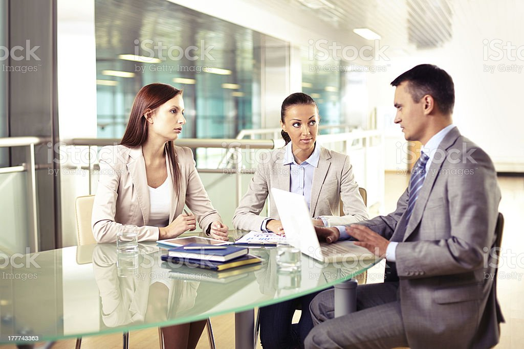 Business interaction royalty-free stock photo