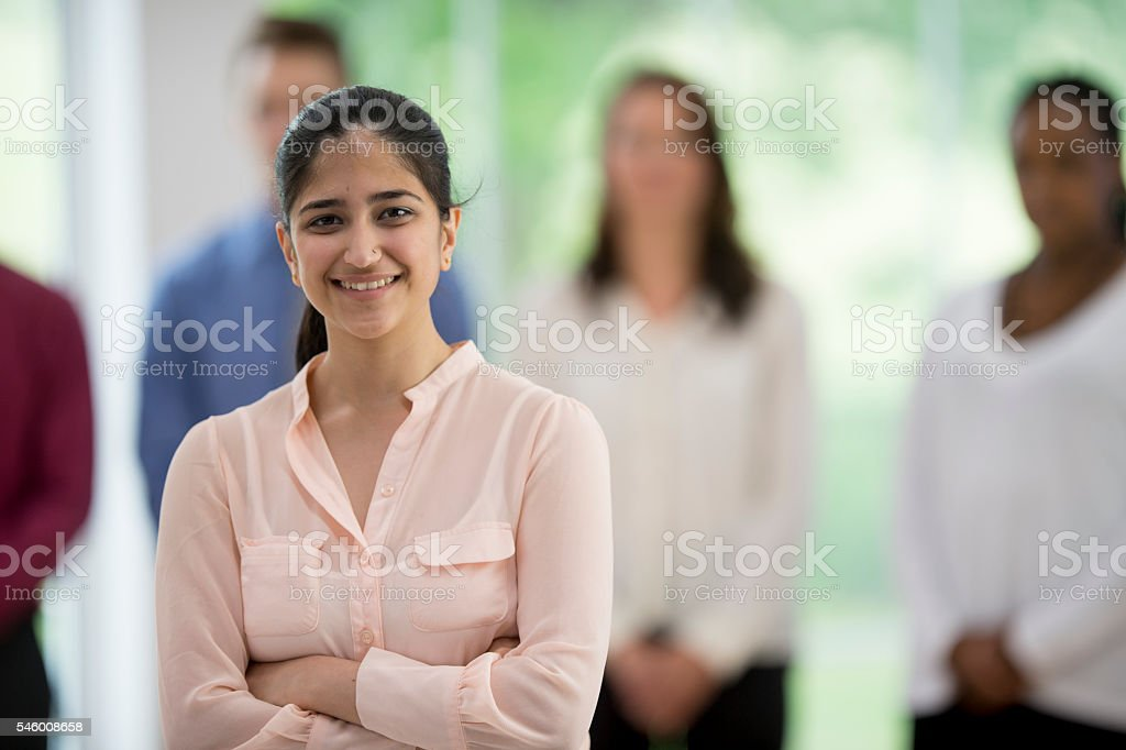 Business Intern at Work stock photo