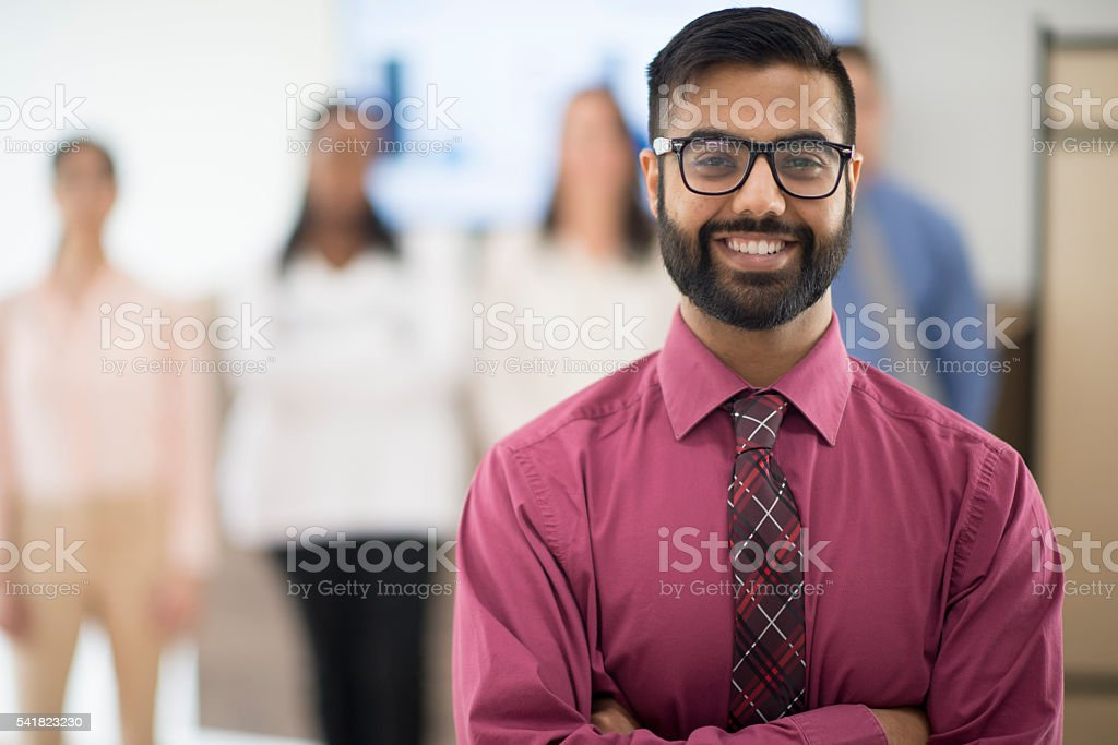 Business Interns at the Office stock photo