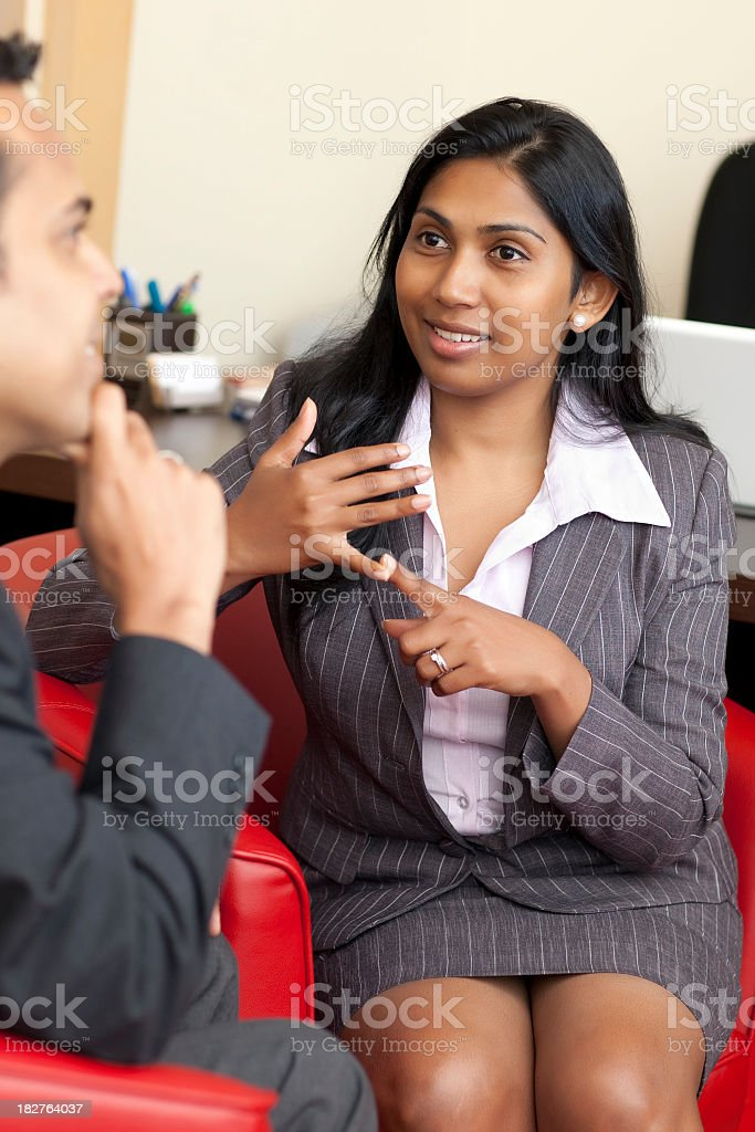 Business interview meeting royalty-free stock photo