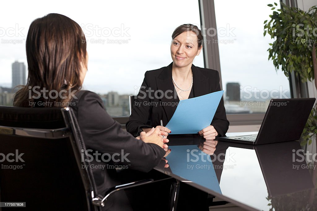 Business interview royalty-free stock photo