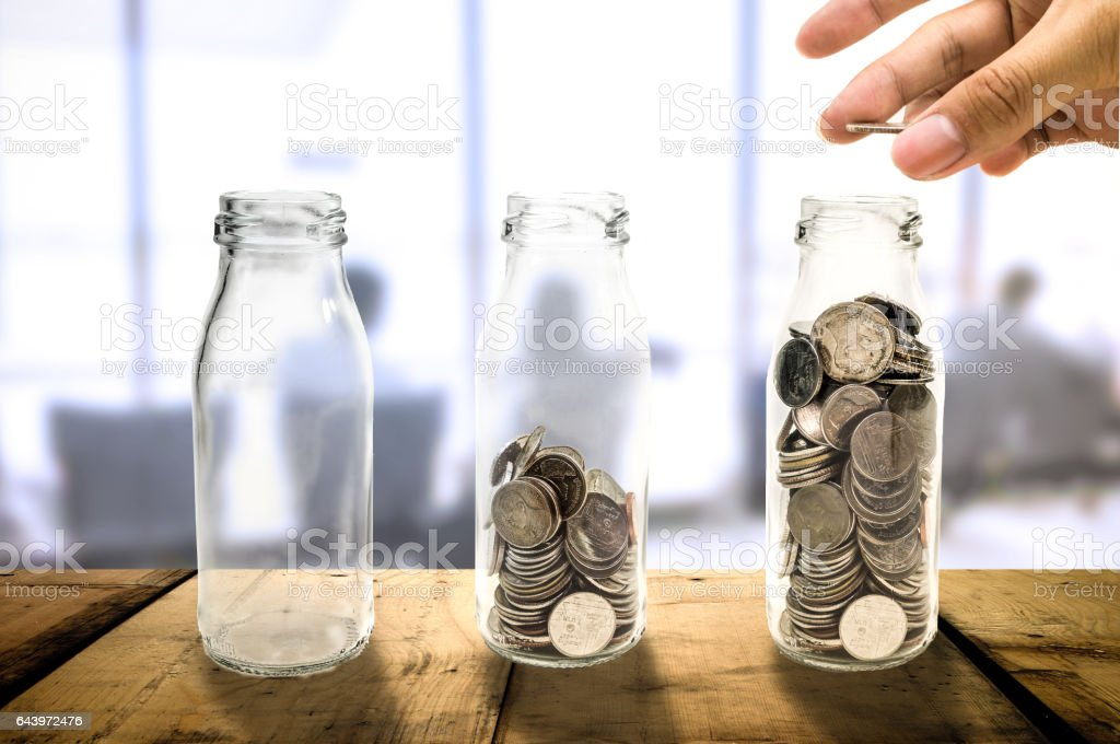 Business investment growth Beautiful concept. stock photo