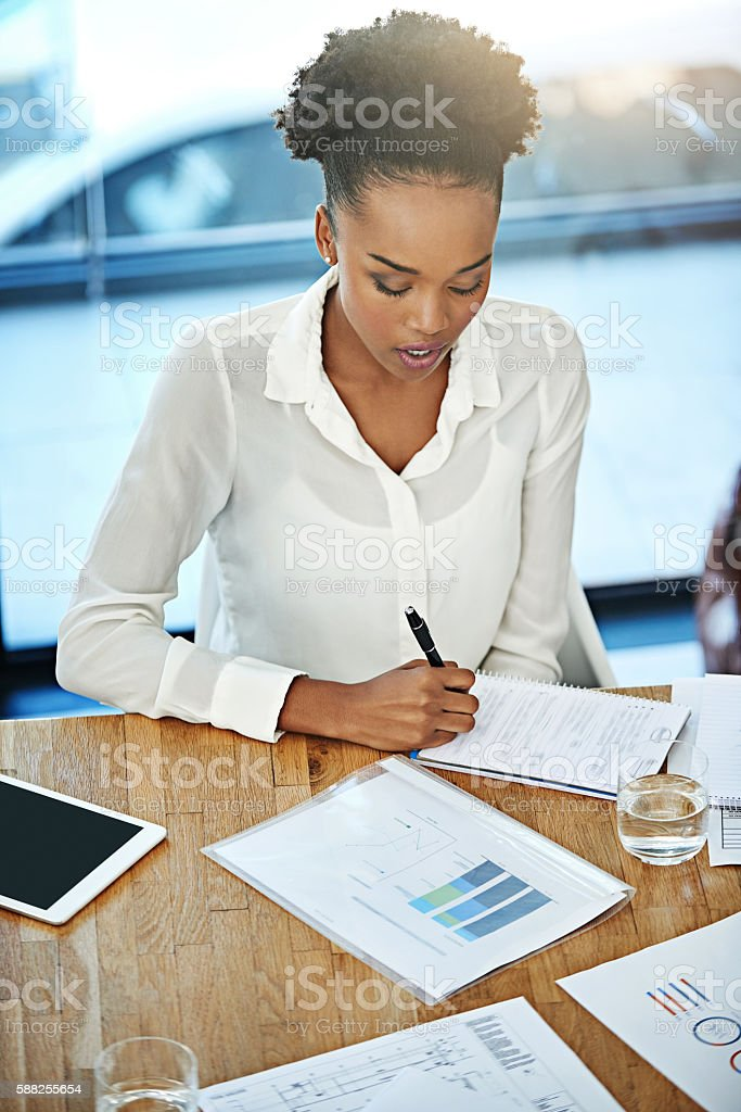 Business is about hard graft stock photo