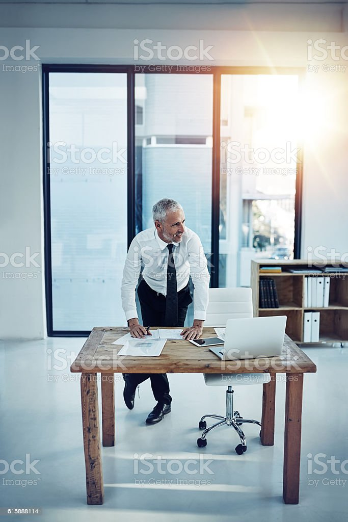 Business is coming together nicely stock photo