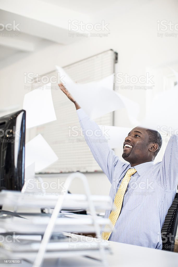 Business is done! stock photo