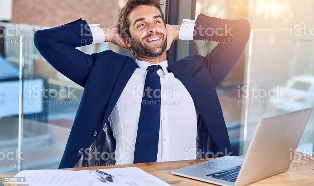 Business is going good stock photo