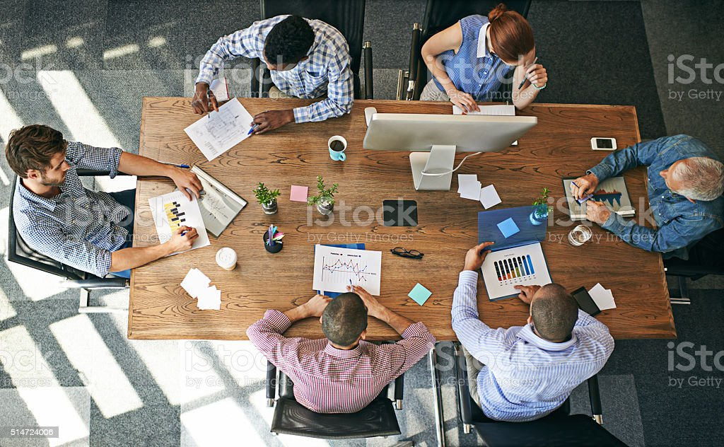 Business is looking good stock photo