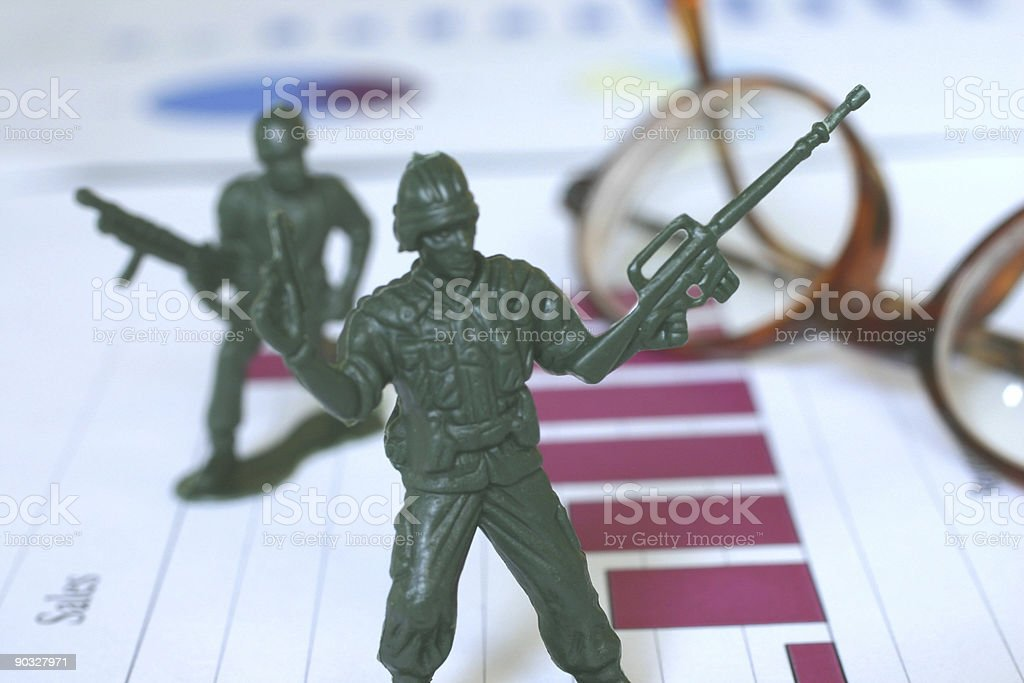 Business is War 2 stock photo