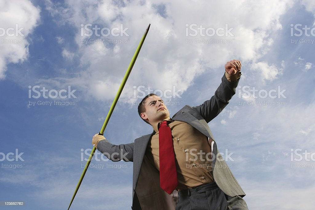 Business javelin royalty-free stock photo