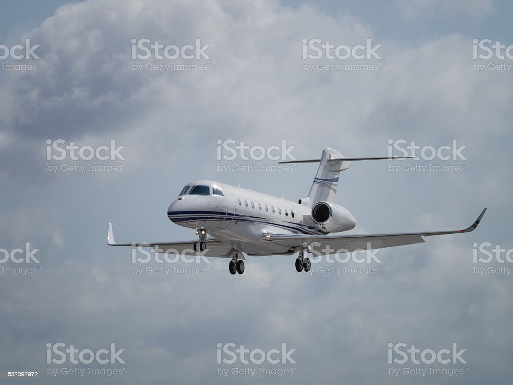 Business jet aircraft stock photo