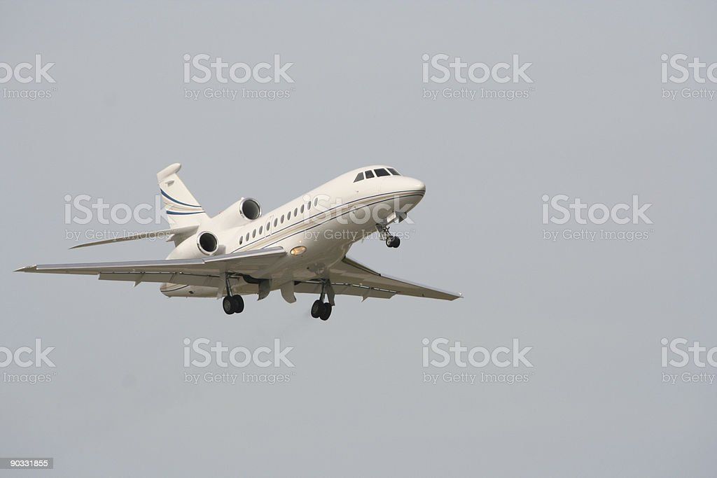 Business Jet departing royalty-free stock photo