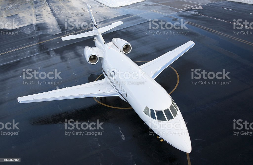 Business Jet Falcon stock photo