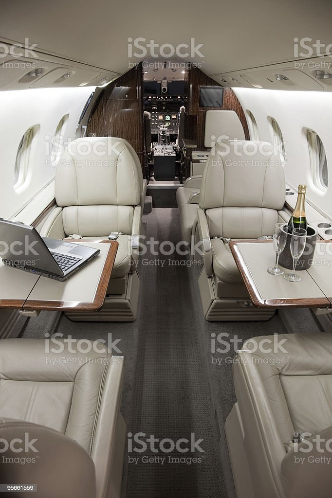 Business Jet Interior royalty-free stock photo