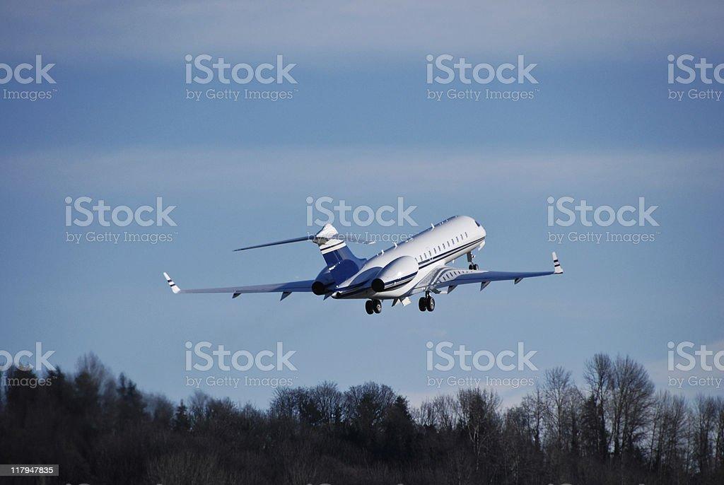 Business Jet Takeoff stock photo