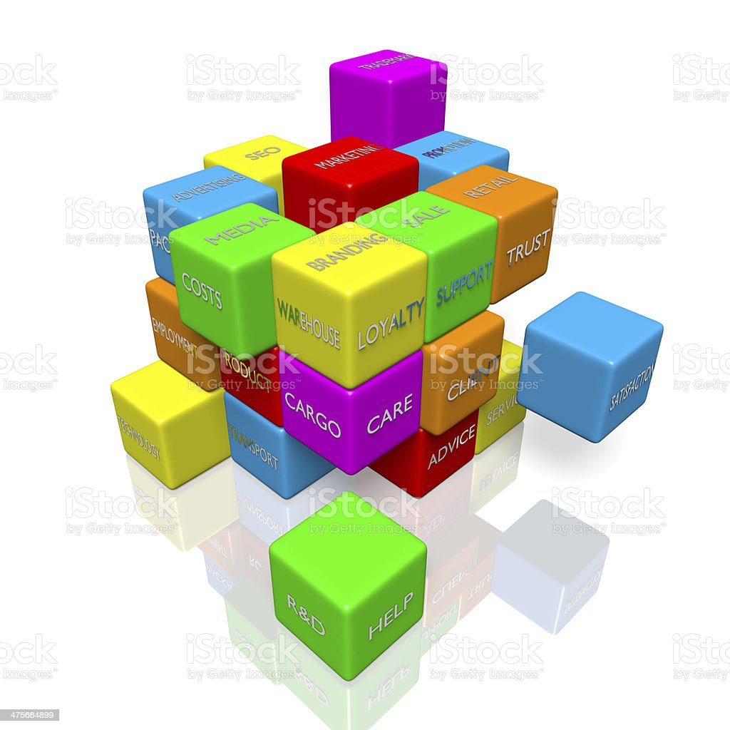 Business jigsaw royalty-free stock photo