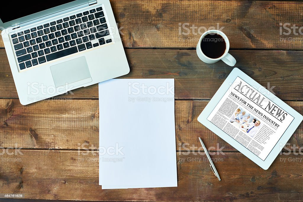 Business journalism stock photo