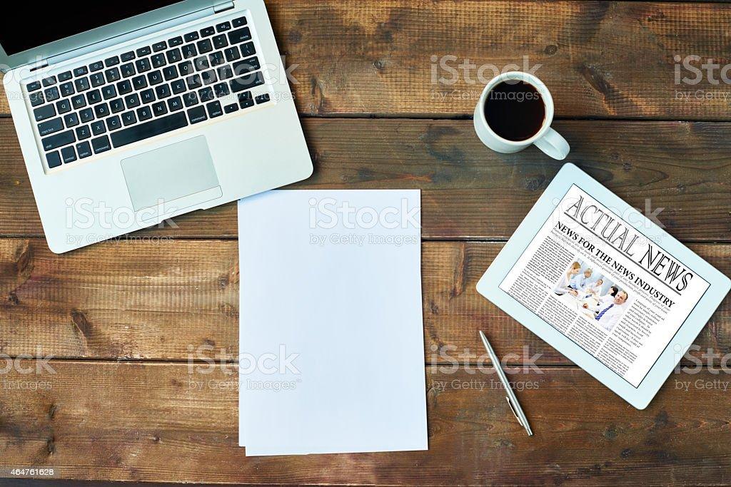 Business journalism stock photo