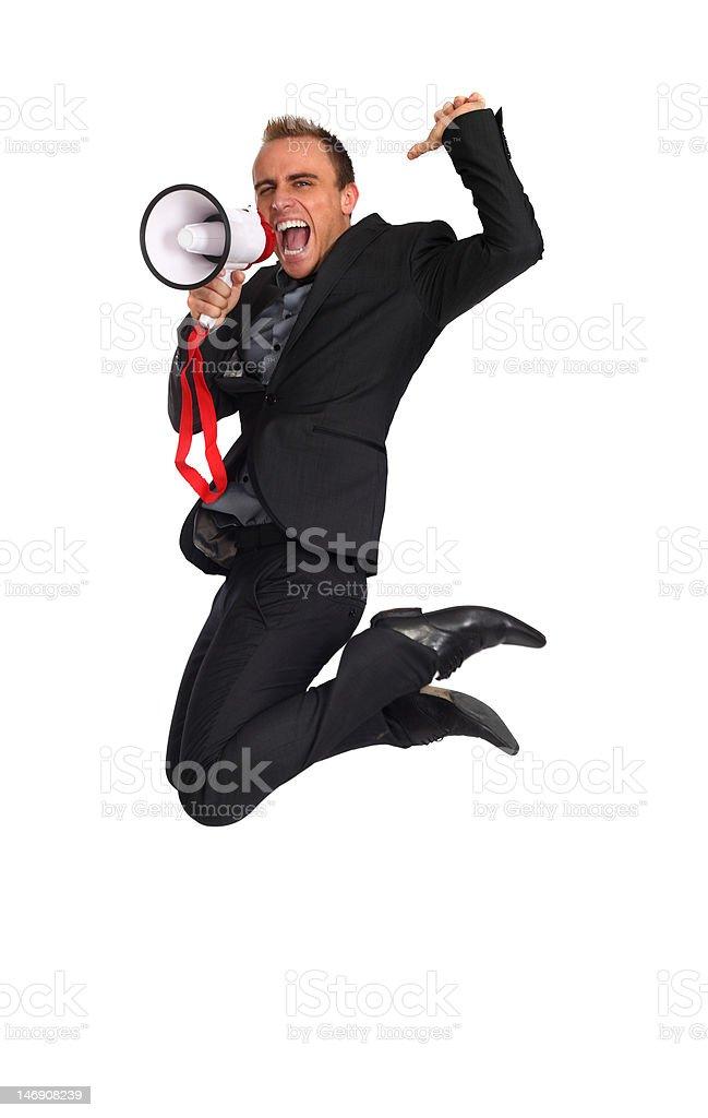 business jump stock photo