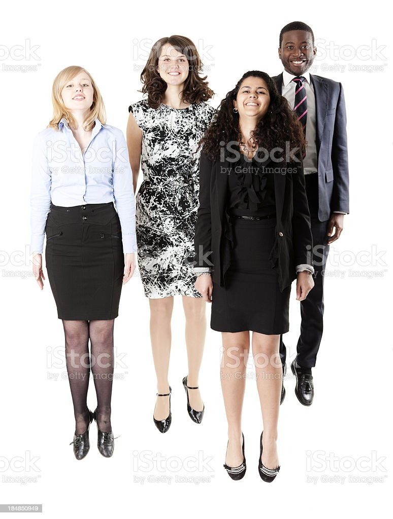 Business jump stock photo