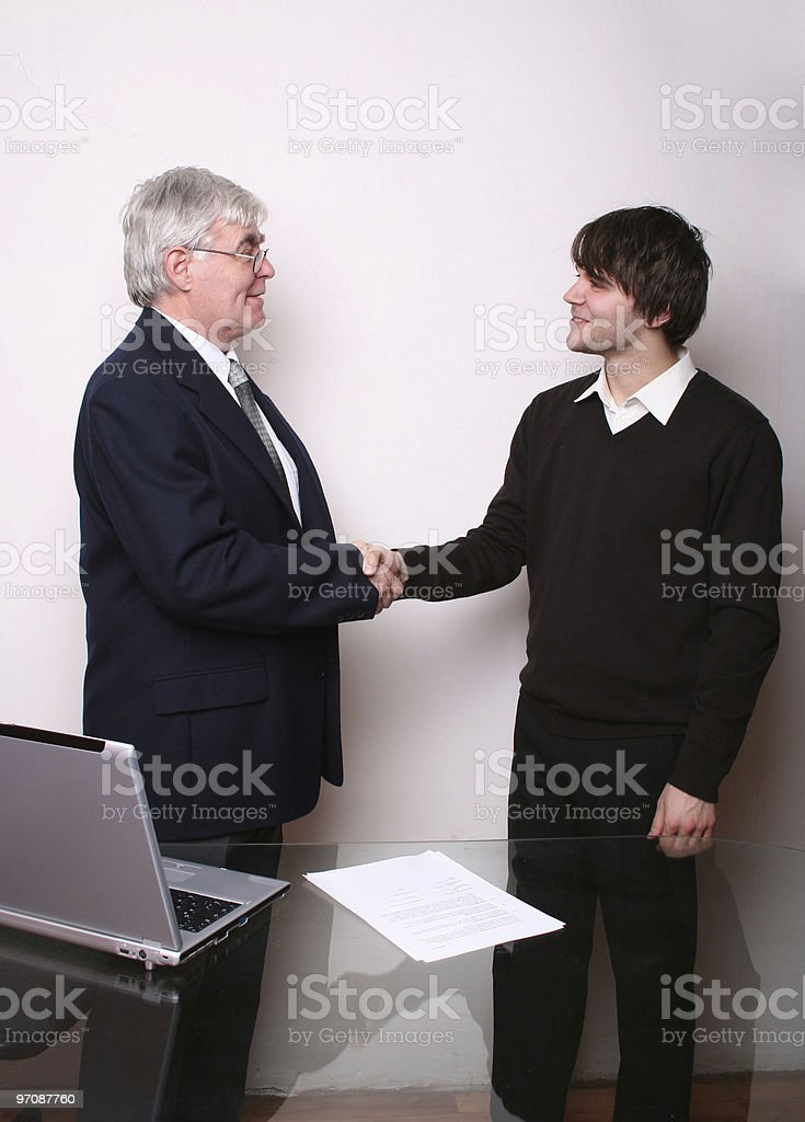 Business Junior and Senior royalty-free stock photo