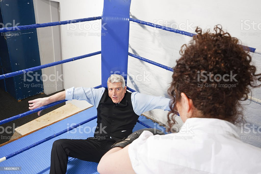 Business Knockout royalty-free stock photo