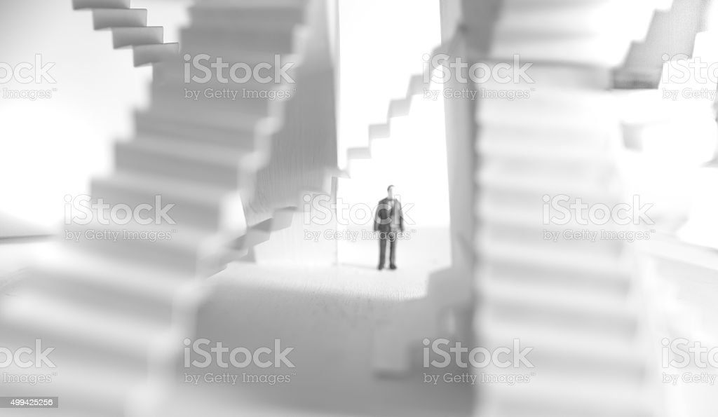 business labyrinth stock photo