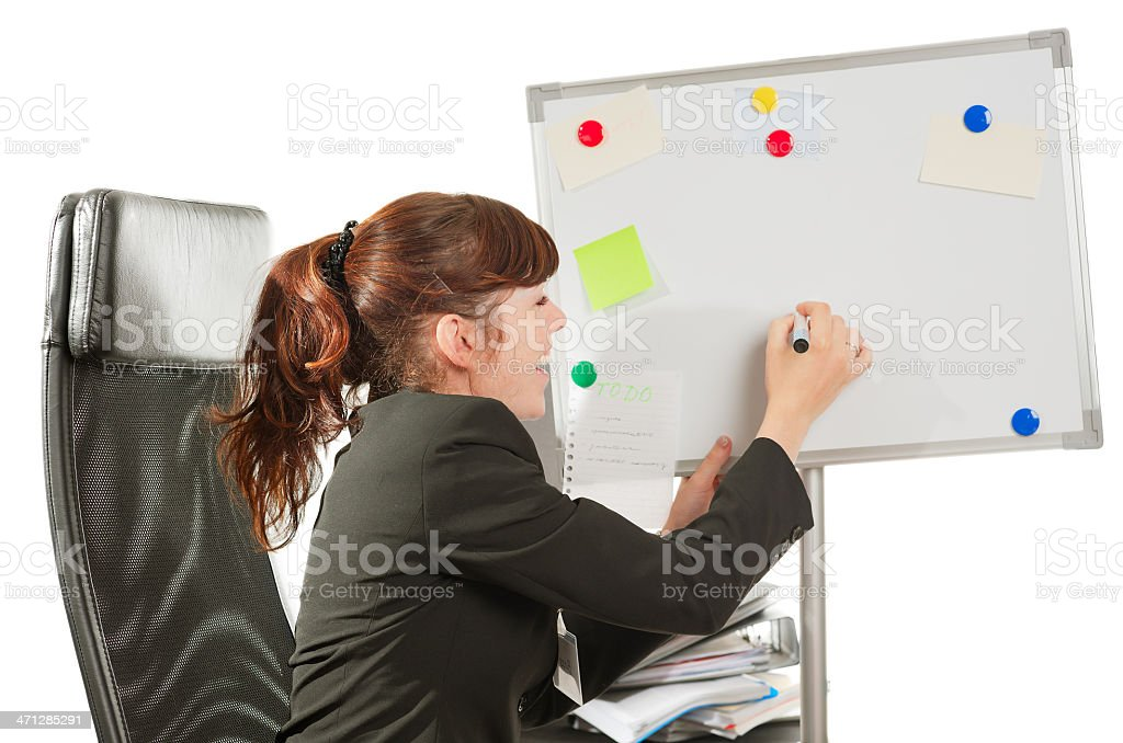 Business lady drawing royalty-free stock photo
