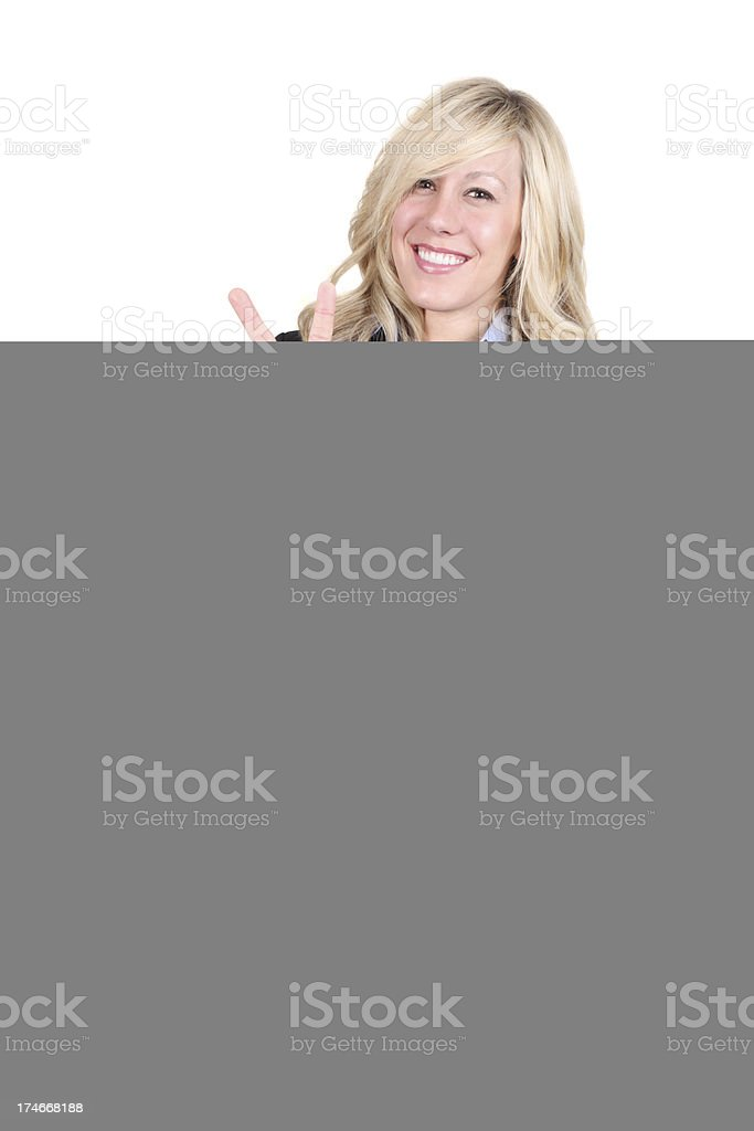 Business Lady Looking Away royalty-free stock photo