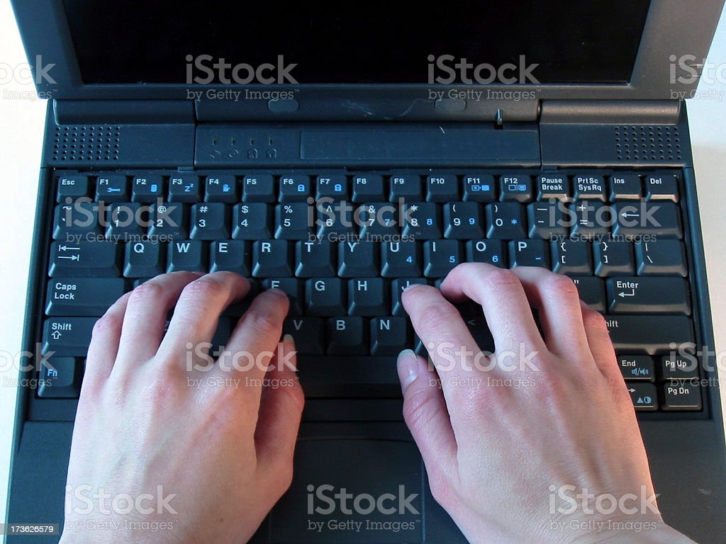 Business - Laptop Typing royalty-free stock photo