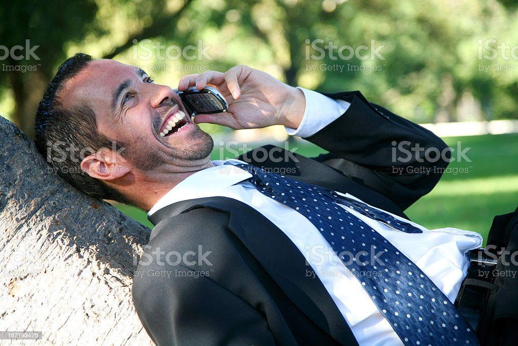 Business laugh royalty-free stock photo