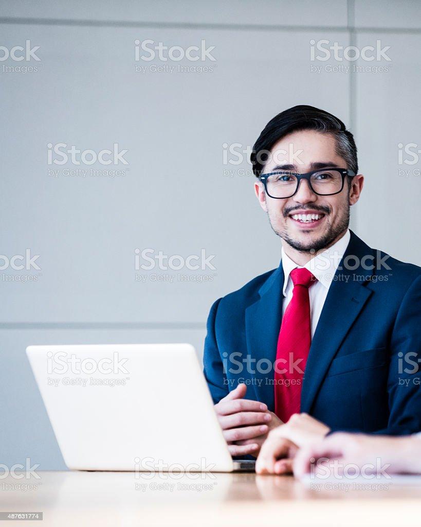 Business leader portrait stock photo