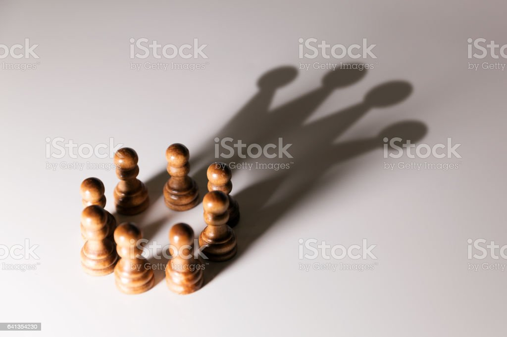 business leadership, teamwork power and confidence concept stock photo