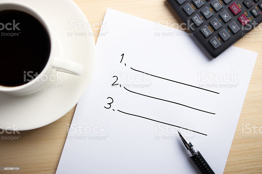 Business List stock photo