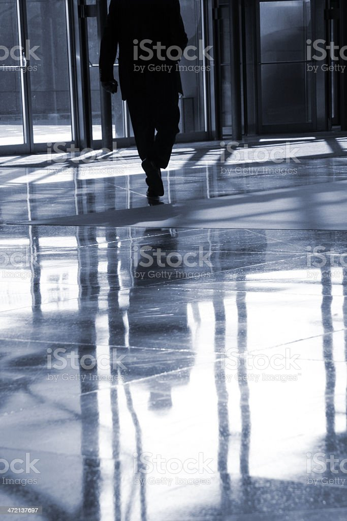 Business lobby reflection royalty-free stock photo