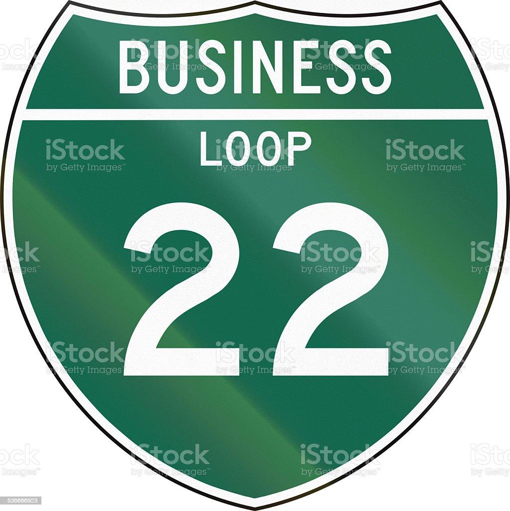 Business Loop 22 stock photo