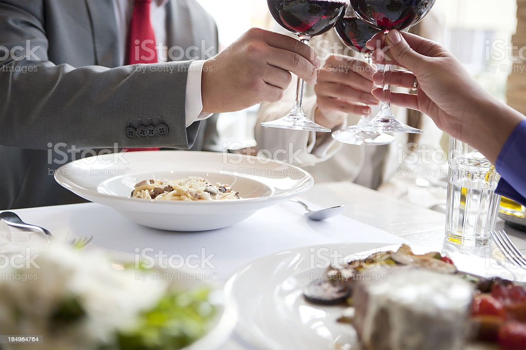 Business lunch royalty-free stock photo