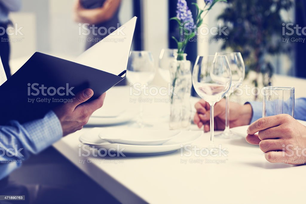 Business lunch stock photo