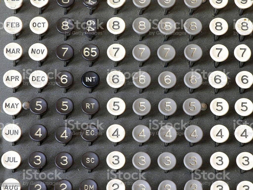 Business Machine, Tabulator Keyboard royalty-free stock photo