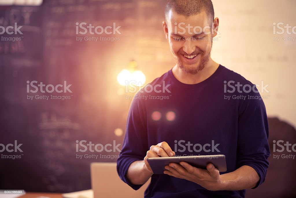 Business made easy through wireless technology stock photo